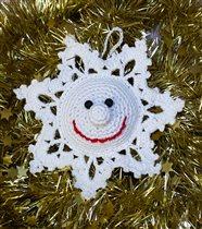 Снежинка Новогодняя Веселая. Цена 100р