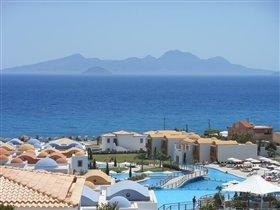 Греция. Кос. Вид на горы соседнего островка.