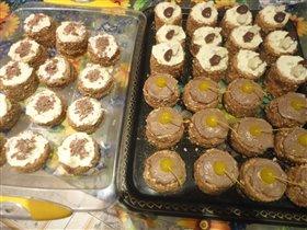 пироженые к 8 марта