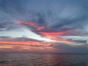 Мексиканский залив. Закат.