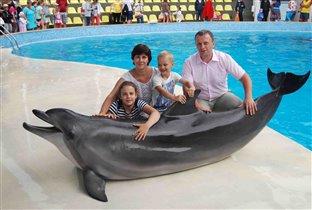 Всей семьёй в дельфинарий!