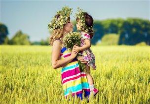 Мамочка и доченька