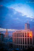 Москва в лучах заката
