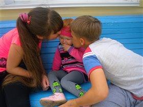брат и сестренка-самые близкие друзья!
