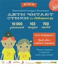 Более 100 призеров в конкурсе «Дети читают стихи»!