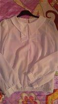 Белая блузка на 1 сентября (146 р-р)