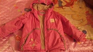 Осенняя куртка для девочки (110 р-р)