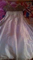 Бальное платье с меховой накидкой (8 лет)