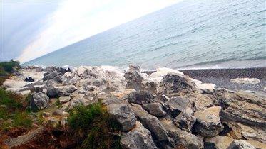 Белые скалы в Абхазии