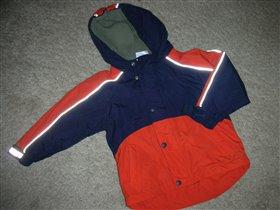 утепленная куртка на флисе, размер 104