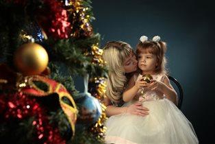 С любимой доченькой Аришенькой)сказочный Новый год