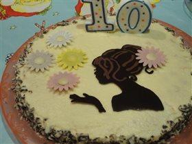 Именинный торт на 10-ти летие