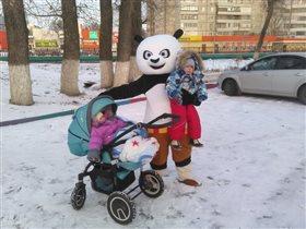 Панда, а ты кто? На папу похож))