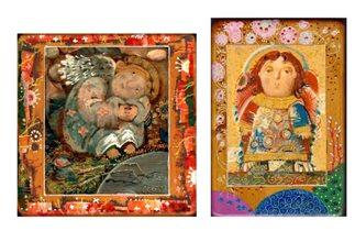 Ангелы на деревянной доске