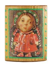 Ангелы магниты на деревянной плашке