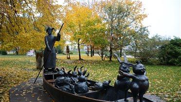 Осенний заплыв Мазая с зайцами