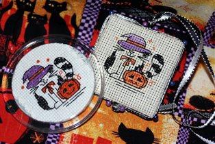 Хэллоуинские котики - дизайн Алины Ильиной