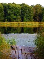 Осеннее озеро в подмосковной сказке