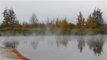горячие источники осенью