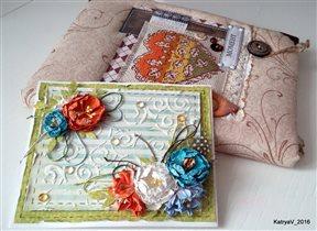 Блокнот и открыточка от Жанны
