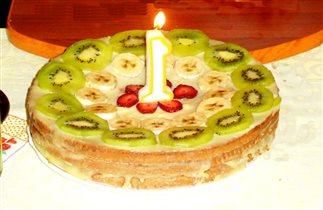 Тортик на первый юбилей дочки