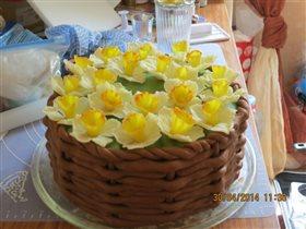 торт -корзинка