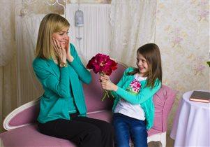 Мама и дочка-лучшие подружки!
