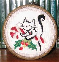 Котик новогодний
