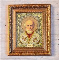 Святой Николай Чудотворец вышивка (бисер) Цена 500
