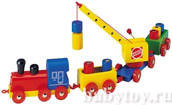 Грузовой поезд с подьемным краном. Цена 600р
