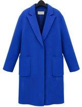 Синее пальто р-р М (на 42-44). 1800 р.