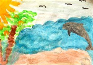 Хочу на море! (рисунок Саши 7 лет.)