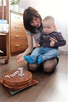 Торт для Тимошки на Первый день рождения!