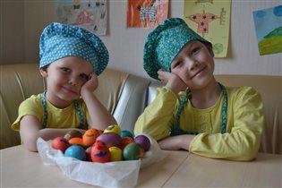 Покрасили яйца