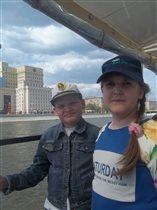 По Москве реке на теплоходе