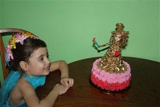 Своими руками торт 'Кукла Аленка'