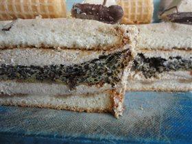Разрезик маково-кофейного торта