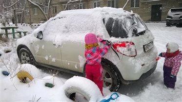 Галя лопатой, Надя лыжней!