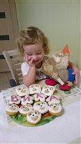 Вкусные кексы для Викули