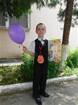 Даниил,выпускник детского садика.