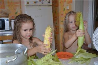 Чистка кукурузы)
