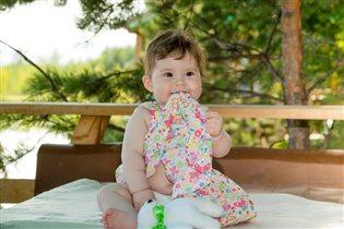 Новое платье да на новый зуб - очень вкусно)!
