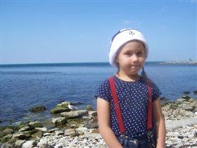 Лето, ах, лето! море, чайка на камне и Я!
