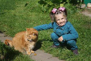 На даче с котом Кузей