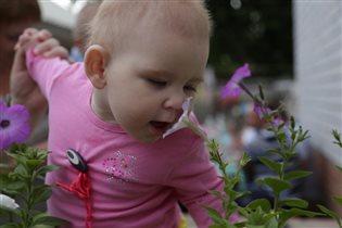 Тасюше очень нравятся цветы