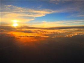 Летнее небо из самолёта
