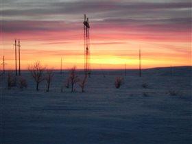 Зимний восход на Урале