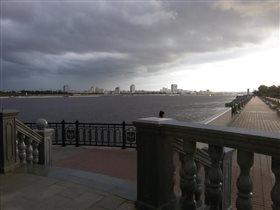 Вид с российского берега на китайский