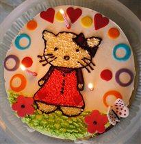 Тортик для доченьки Хелло Китти
