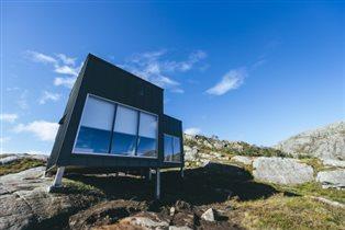 Норвежские фьорды: туристические домики по 36 евро - солнечные батареи и сауна над горным ручьем